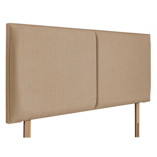 Swanglen Cairo Gem Fabric Headboard with Wooden Struts - Oatmeal - Single 3ft