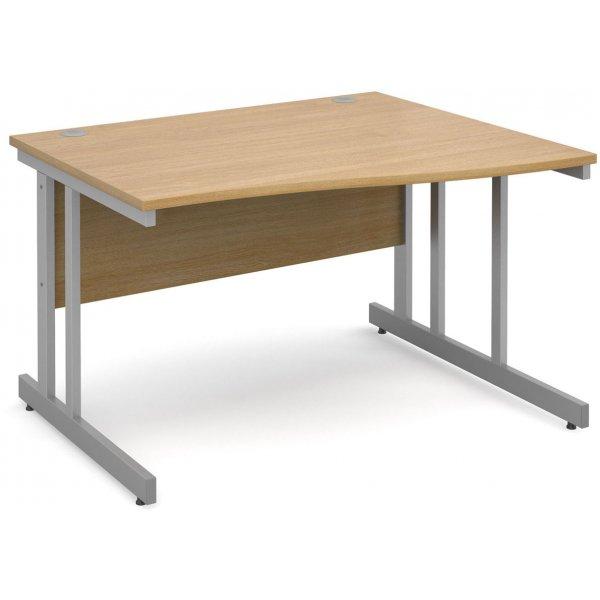 DSK Momento 1200mm Right Hand Wave Desk - Light Oak