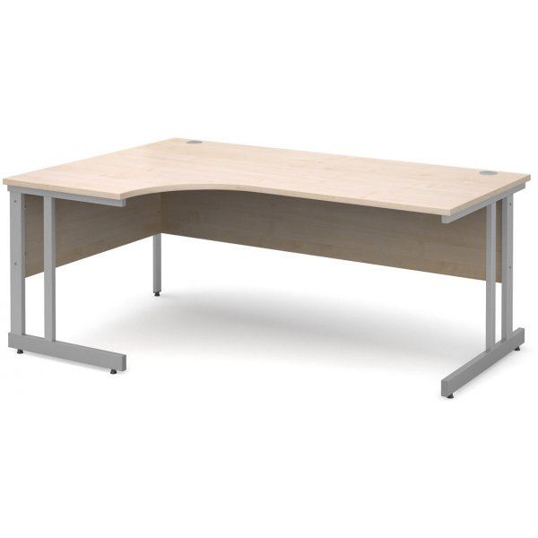 DSK Momento 1800mm Left Hand Ergonomic Desk - Maple