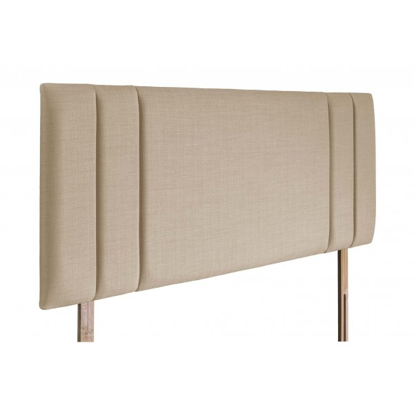 Swanglen Sphinx Gem Fabric Headboard with Wooden Struts - Beige - King 5ft