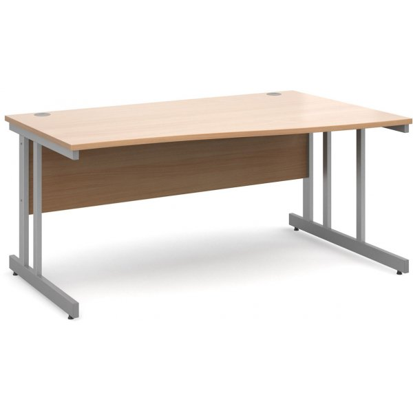 DSK Momento 1600mm Right Hand Wave Desk - Beech