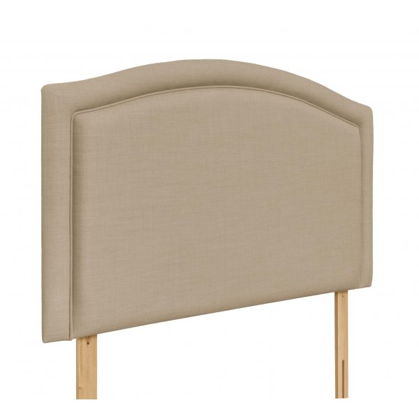 Swanglen Paris Gem Fabric Headboard with Wooden Struts - Beige - King 5ft