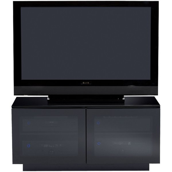 """BDI MIRAGE 8224 TV cabinet in black for TVs up to 42\"""""""