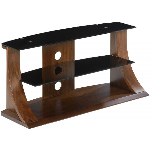 """Jual Florence Curved Walnut and Black 50\"""" TV Stand"""