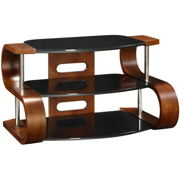 Jual Florence Curved Walnut and glass TV Stand for up to 37\'\'