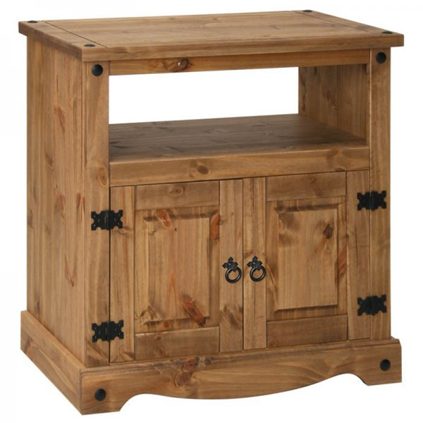 """Core Products CR909 Classic Corona Small TV Unit For up to 42\"""" TVs - Rustic Pine"""