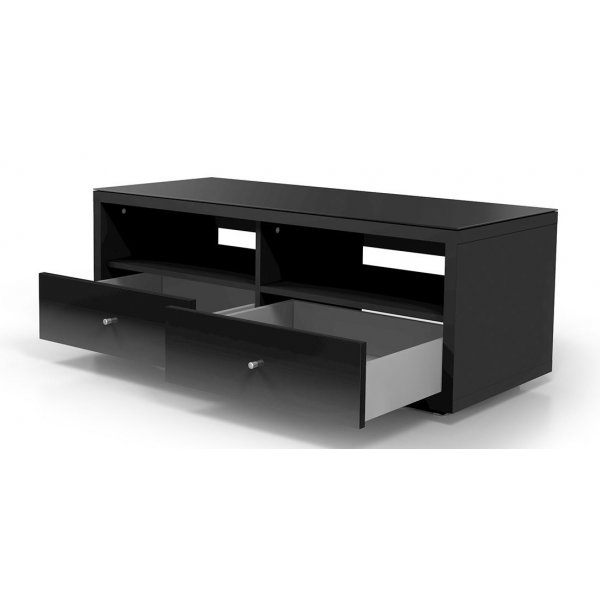Just Racks By Spectral Jra121 Black Tv Cabinet With Drawers