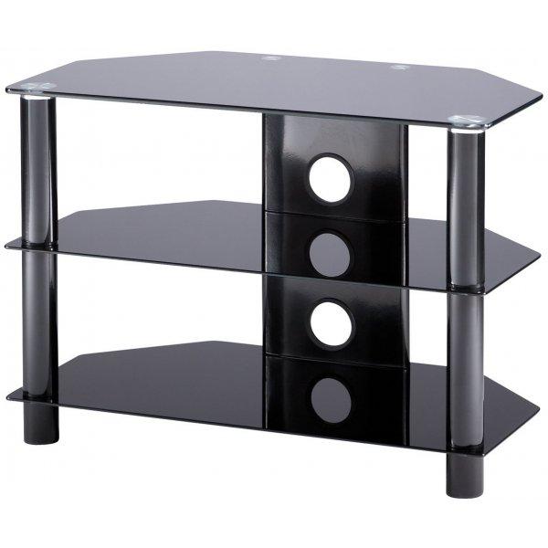 """Alphason Essentials - 3 shelf black TV Stand for up to 37\"""""""