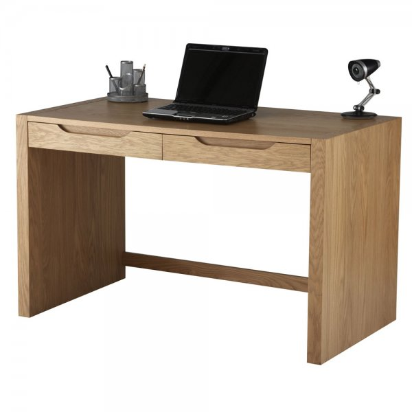 Alphason Butler Oak Desk with Stationary Drawers