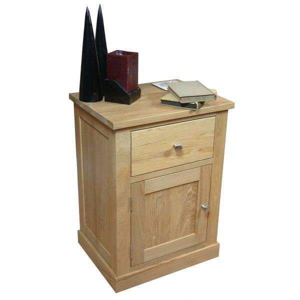 Mobel Oak One Door one Drawer Lamp Table
