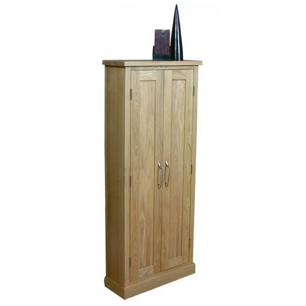 Mobel Oak CD/DVD Storage Cupboard