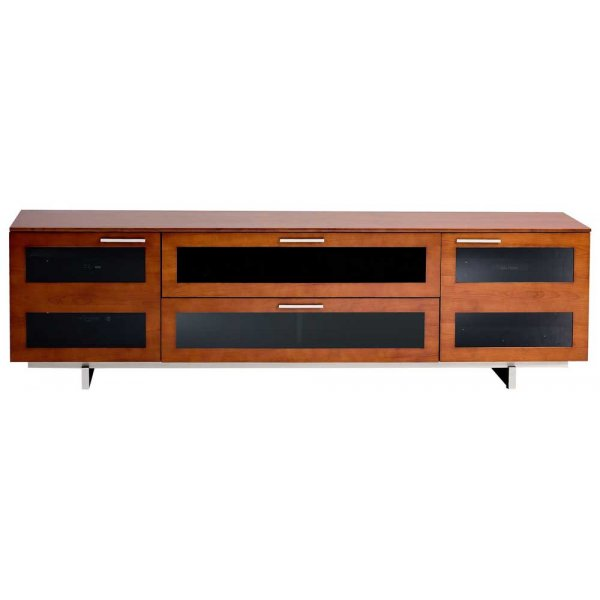 "Avion 8929 Natural Cherry TV Cabinet For Up To 82"" TVs"