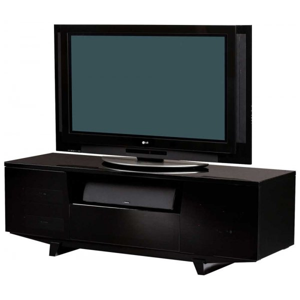 "BDI Marina Gloss Black TV Stand For Up To 75"" TVs"