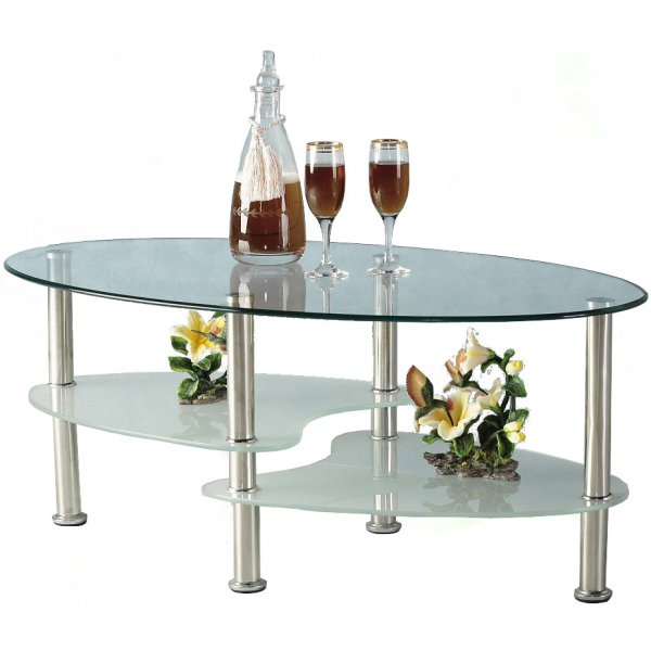 Puro Glass Coffee Table Clear: Cara Clear Glass Coffee Table