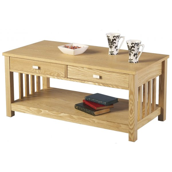Ash 2 Drawer Coffee Table