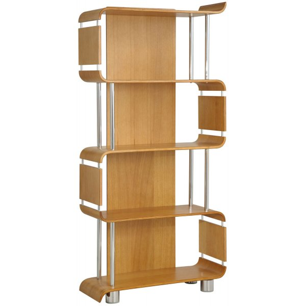Jual Bali Oak Bookshelf with Chrome Supports