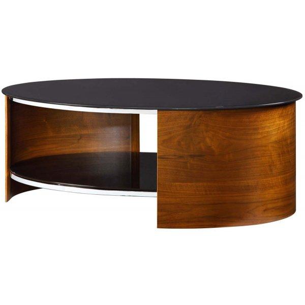 Jual San Marino Black Glass And Walnut Coffee Table
