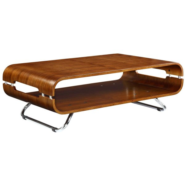 Jual San Marino Chrome And Wood Coffee Table