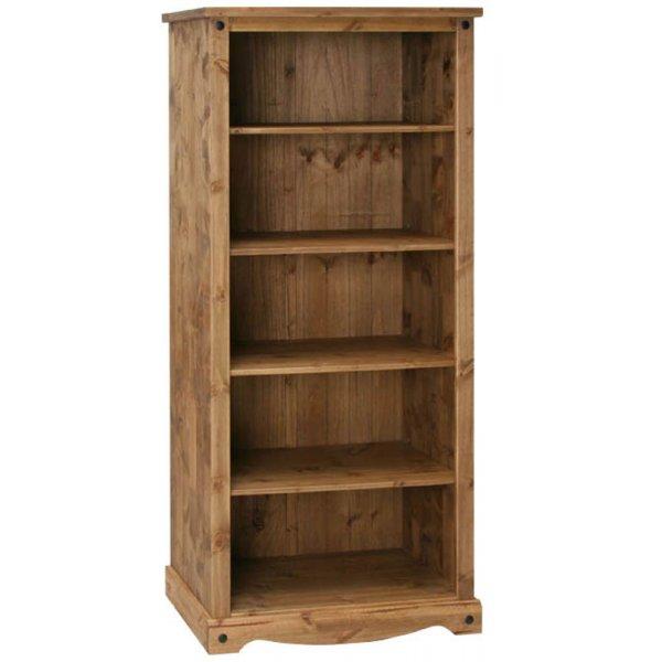 Core Products CR908 Classic Corona 4 Shelf Open Bookcase - Rustic Pine