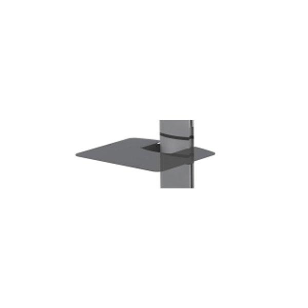 Black Accessory Shelf for World Mounts Floor Stands