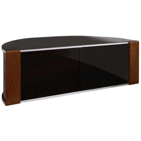 Sirius 1200 Black and Walnut Corner TV Cabinet