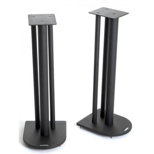 Pair of Speaker Stands in Black - Height 70cm