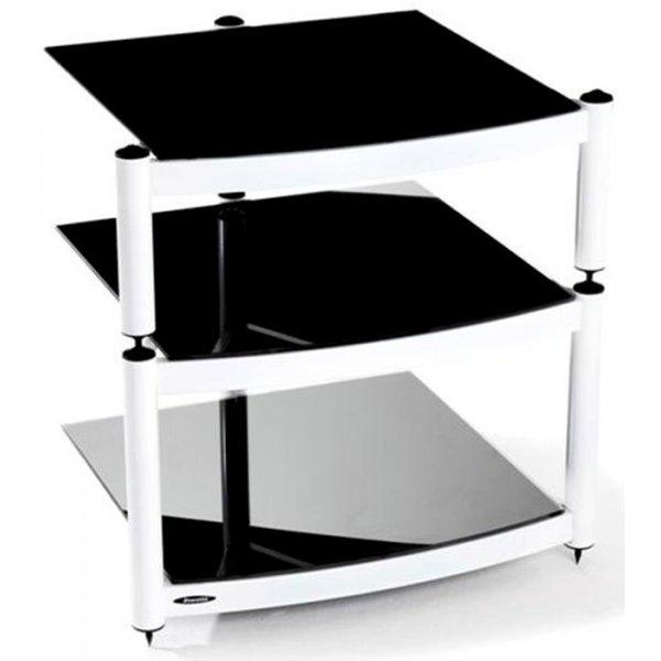 Equinox White 3 Shelf R.S HiFi Stand