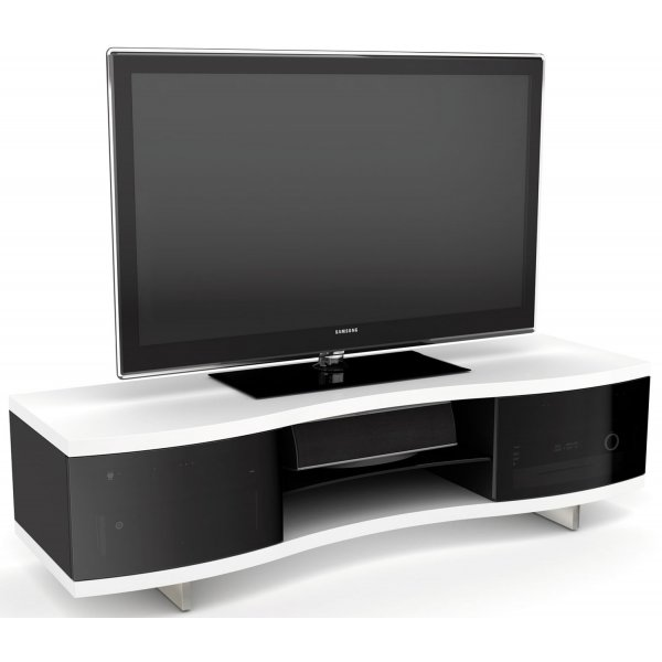 """BDI White Curved Cabinet For TVs up to 70\"""""""
