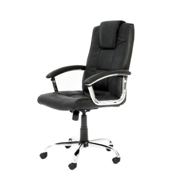 Alphason Houston High Back Leather Executive Desk Chair - Black