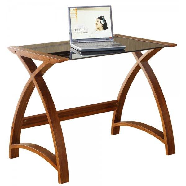 Jual Helsinki Compact Walnut and Glass Desk