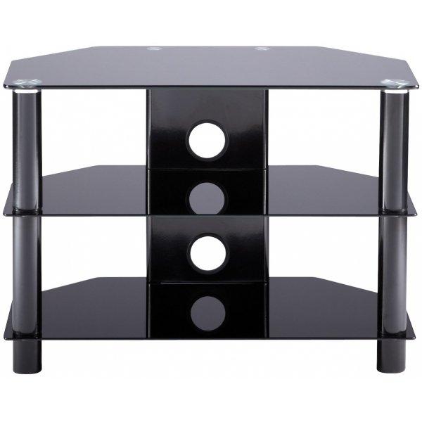 """Alphason Essentials - 3 shelf black TV Stand for up to 32\"""""""