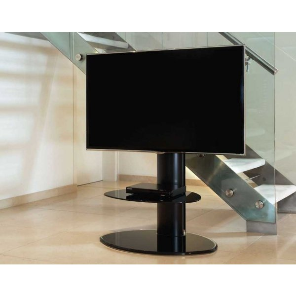 Off-The-Wall Motion Black Cantilever TV Stand