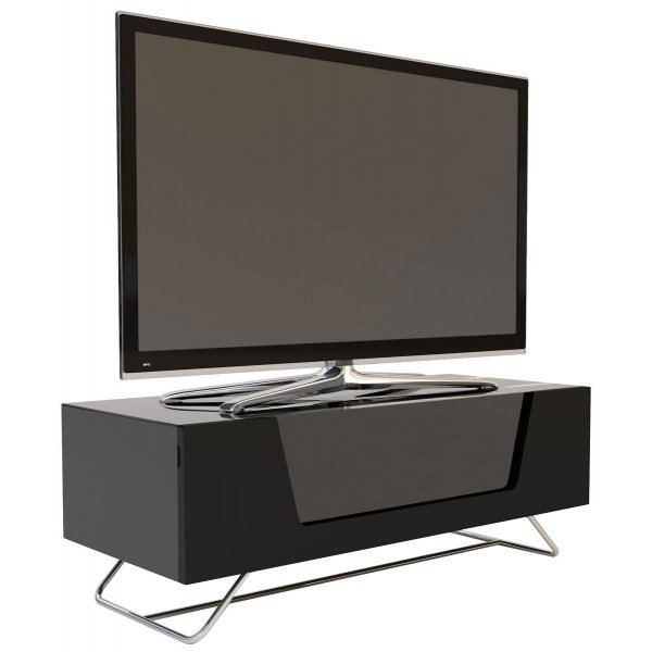 "Alphason Chromium 1000 Black TV Stand for up to 50"" TVs"