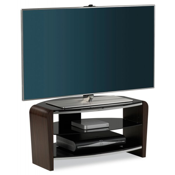 """Alphason Francium 800 Walnut TV Stand for up to 37\"""" TVs"""