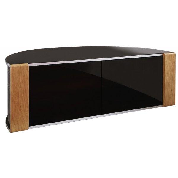 Sirius 1200 Black and Oak Corner TV Cabinet
