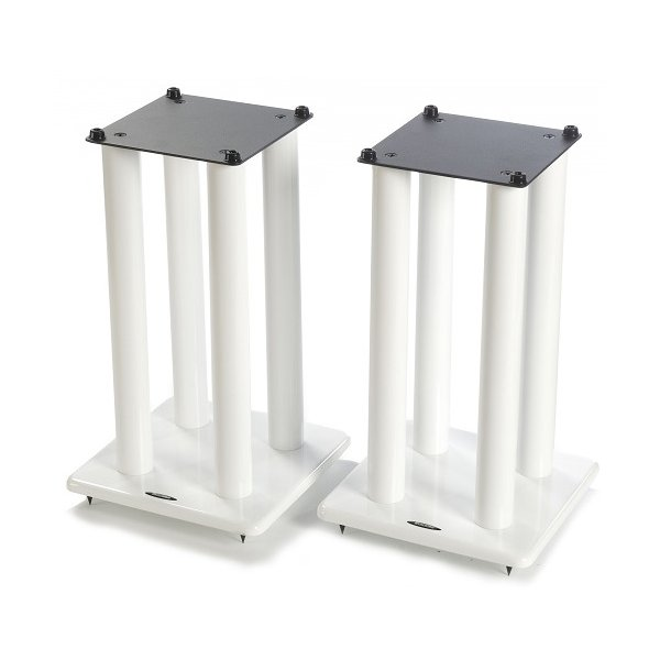 Atacama Speaker Stands in White - Height 500mm