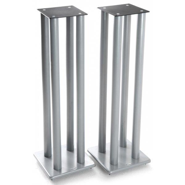 Atacama Speaker Stands in Silver - Height 1000mm