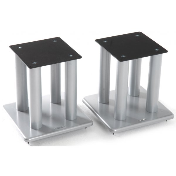 Atacama Speaker Stands in Silver - Height 400mm