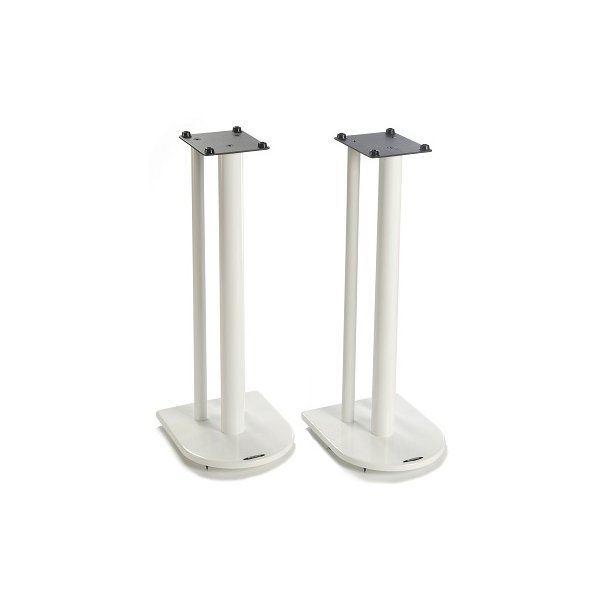 Pair of Speaker Stands in White - Height 70cm
