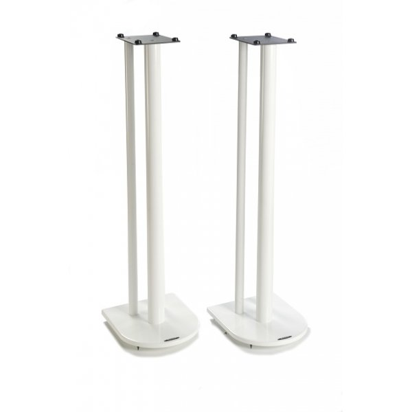 Nexus 10i Speaker Stands in White - Height 100cm