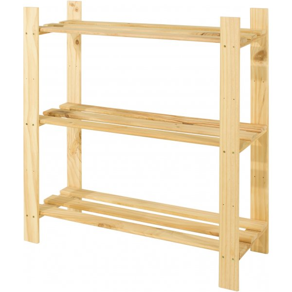 Cedar Timber 3 Shelf Storage Unit