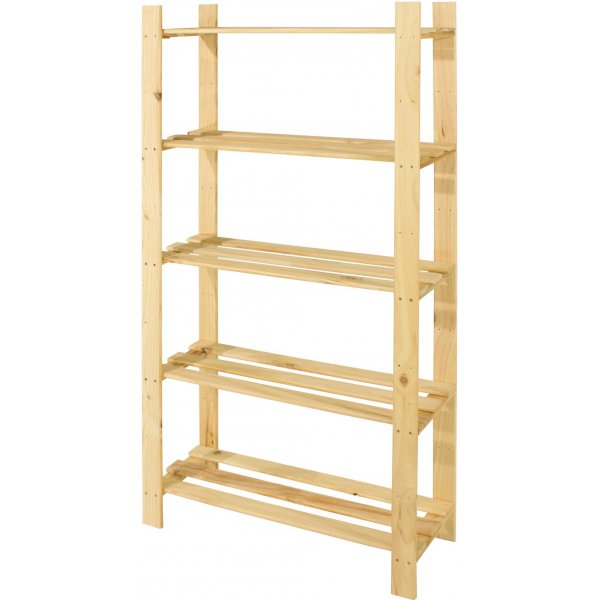 Cedar Timber 5 Shelf Storage Unit