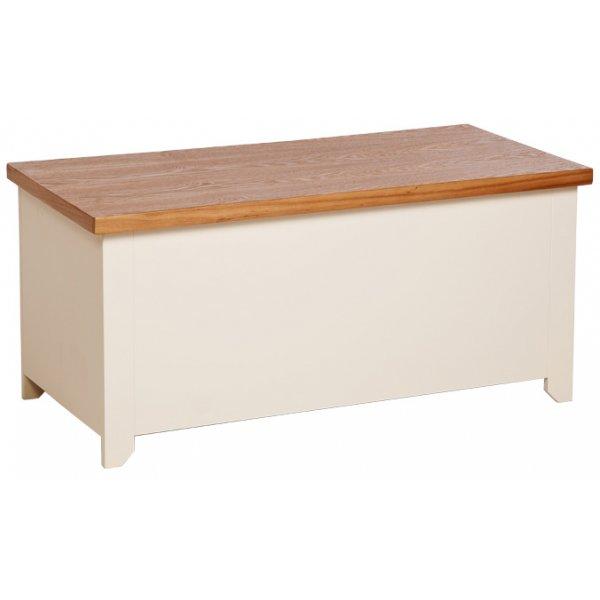 Jamestown Cream/Oak Blanket Box