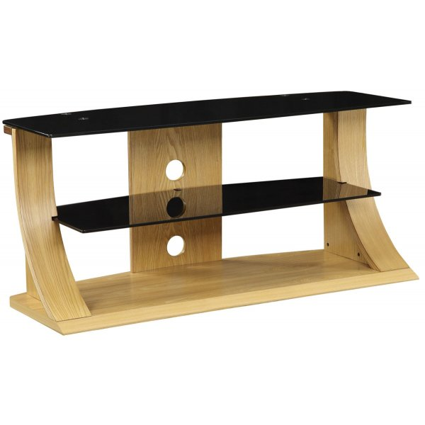 "Jual Florence Curved Oak TV Stand for up to 50"" TVs"