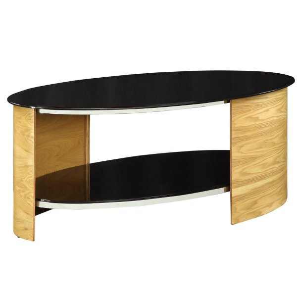 Jual San Marino Black Glass And Oak Coffee Table