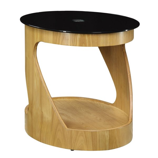 Jual San Marino Oak Oval Lamp Table