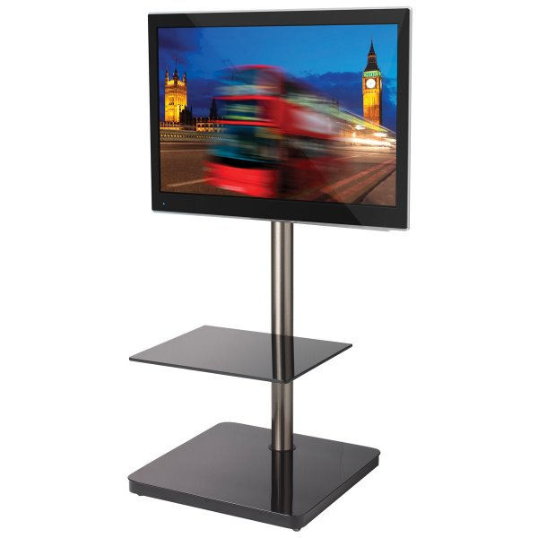 B-Tech Cantabria Black Cantilever TV Stand