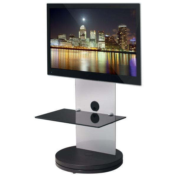 B-Tech BTF810 High Gloss White Cantilever TV Stand