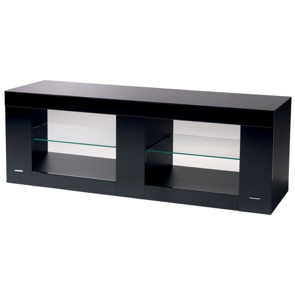 B-Tech BTF803 High Gloss Black TV Stand