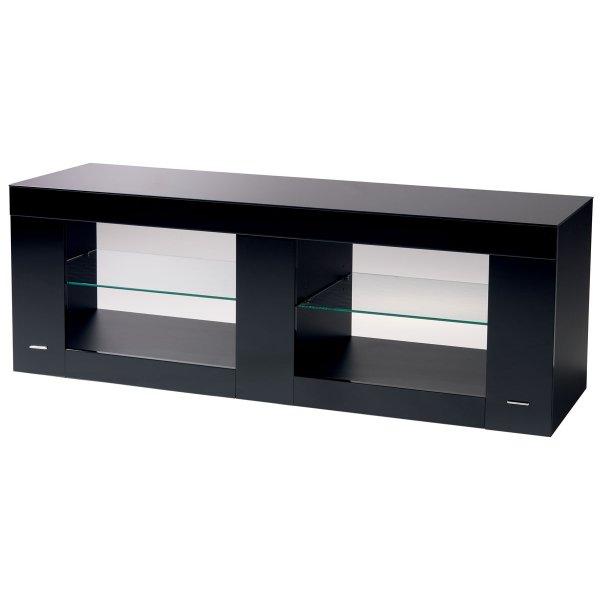 B-Tech Cantabria High Gloss Black TV Stand